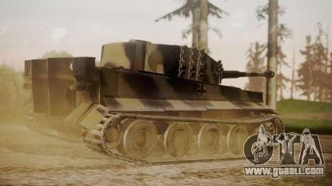 Panzerkampfwagen VI Tiger Ausf. H1 No Interior for GTA San Andreas left view