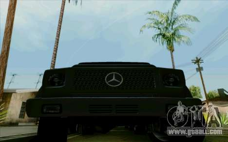 Mercedes-Benz G500 1999 for GTA San Andreas inner view