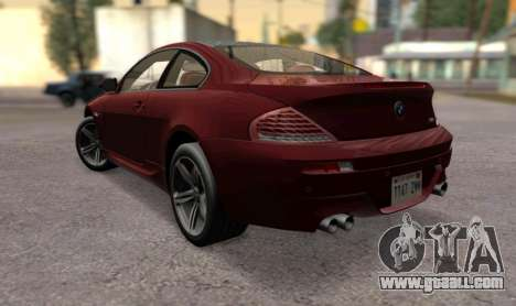 BMW M6 E63 for GTA San Andreas left view