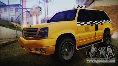 Albany Cavalcade Taxi (Saints Row 4 Style) for GTA San Andreas