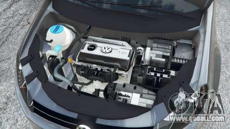 GTA 5 Volkswagen Golf Mk6 v2.0 rear right side view