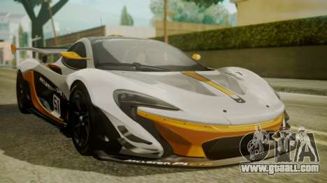McLaren P1 GTR 2015 for GTA San Andreas
