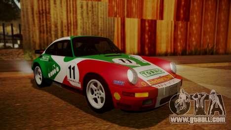 RUF CTR Yellowbird (911) 1987 HQLM for GTA San Andreas inner view