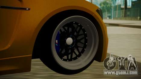 BMW 1M E82 without Sunroof for GTA San Andreas back left view