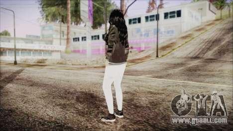 Home Girl White Pants for GTA San Andreas third screenshot