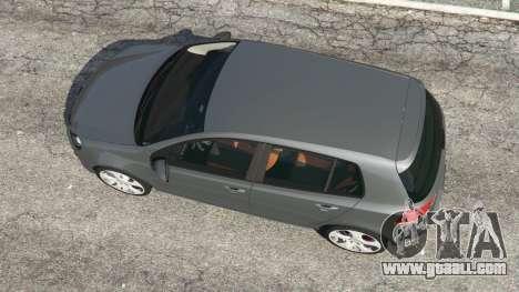 GTA 5 Volkswagen Golf Mk6 v2.0 back view
