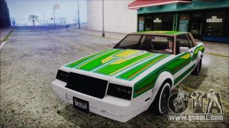 GTA 5 Willard Faction Custom Bobble Version IVF for GTA San Andreas side view