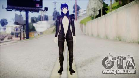 Nyotengu Cos 3 Black Leather for GTA San Andreas