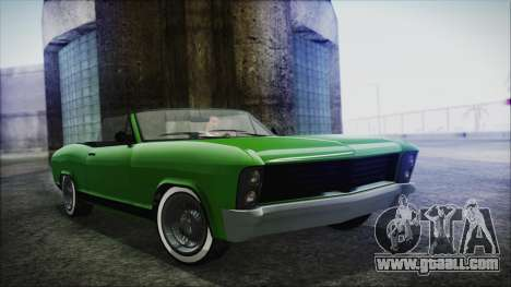 GTA 5 Albany Buccaneer Hydra Version IVF for GTA San Andreas