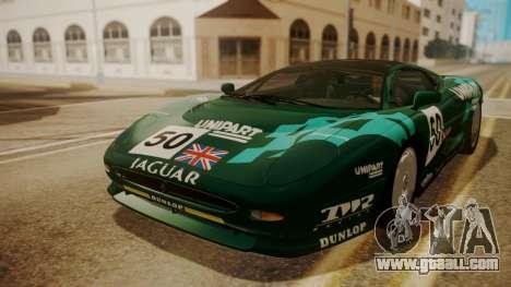 Jaguar XJ220 1992 HQLM for GTA San Andreas bottom view