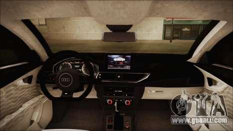 Audi RS7 Sportback 2015 for GTA San Andreas bottom view