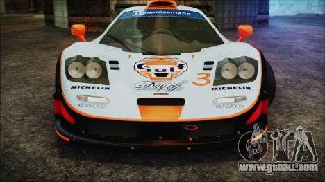 McLaren F1 GTR 1998 for GTA San Andreas upper view