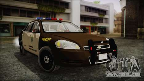 Chevrolet Impala SASD Sheriff Department for GTA San Andreas