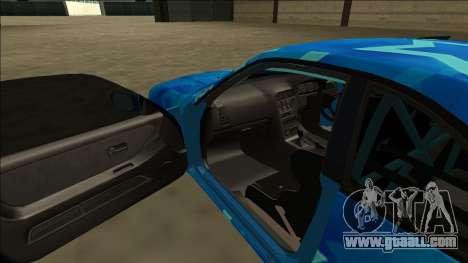 Nissan Skyline R33 Drift Blue Star for GTA San Andreas upper view