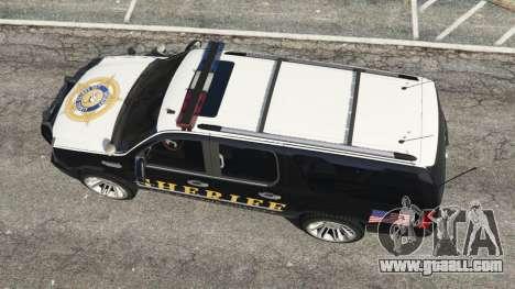 GTA 5 Cadillac Escalade ESV 2012 Police back view