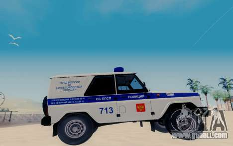 UAZ Hunter SPSP for GTA San Andreas left view