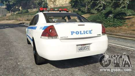 GTA 5 Chevrolet Impala NYPD rear left side view