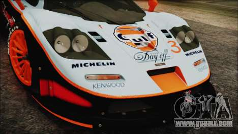 McLaren F1 GTR 1998 for GTA San Andreas right view