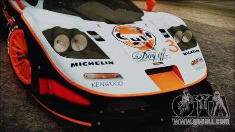 McLaren F1 GTR 1998 for GTA San Andreas right view