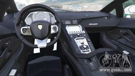 GTA 5 Lamborghini Aventador LP700-4 Dubai Police v5.5 rear right side view