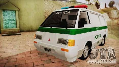 Mitsubishi L300 2008 Patrol Colombian Police for GTA San Andreas