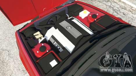 GTA 5 BMW M5 (E34) 1991 rear right side view