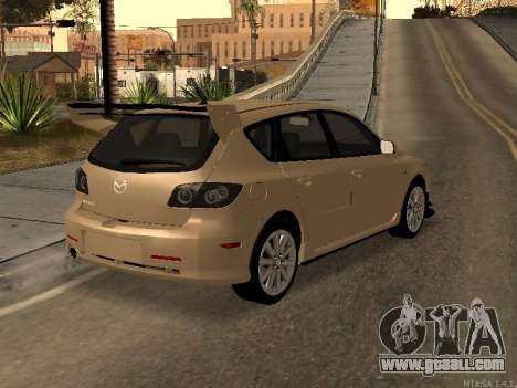 Mazda 3 MPS Tunable for GTA San Andreas inner view