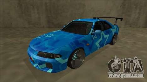Nissan Skyline R33 Drift Blue Star for GTA San Andreas