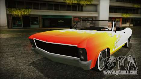 GTA 5 Albany Buccaneer Hydra Version for GTA San Andreas upper view