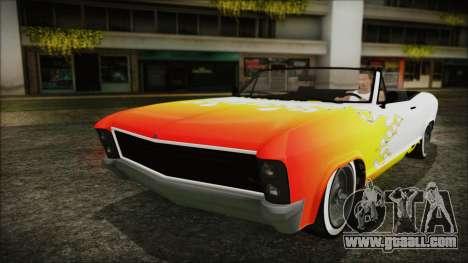 GTA 5 Albany Buccaneer Custom IVF for GTA San Andreas upper view