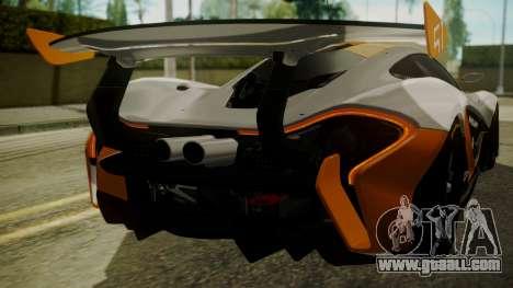McLaren P1 GTR 2015 for GTA San Andreas side view
