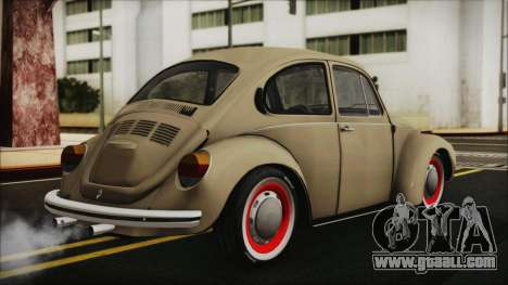 Volkswagen Beetle 1973 for GTA San Andreas left view