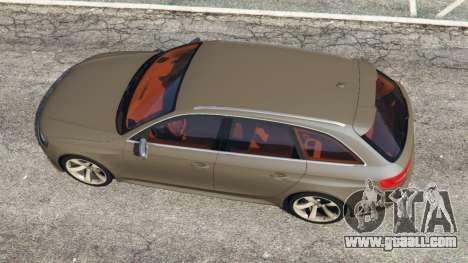 GTA 5 Audi RS4 Avant 2013 back view