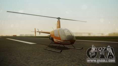 Robinson R-22 de Seguridad Vial for GTA San Andreas