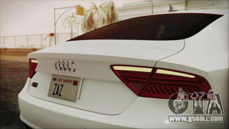 Audi RS7 Sportback 2015 for GTA San Andreas inner view