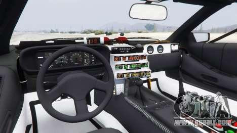 GTA 5 DeLorean DMC-12 Back To The Future rear right side view