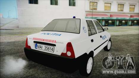 Dacia Solenza Politia for GTA San Andreas left view