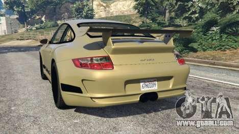 GTA 5 Porsche 911 (997) GT3 RS 2007 rear left side view