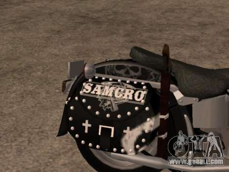 Harley Davidson Fat Boy Sons Of Anarchy for GTA San Andreas right view