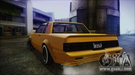 GTA 5 Willard Faction Custom Bobble Version IVF for GTA San Andreas left view