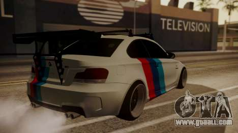 BMW 1M E82 with Sunroof for GTA San Andreas side view