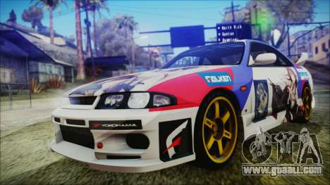 Nissan Skyline R33 Kantai Collection Kongou PJ for GTA San Andreas inner view