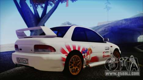 Subaru Impreza 22B STi for GTA San Andreas left view