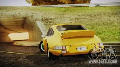 Porsche 911 Carrera RS 2.7 (901) 1973 for GTA San Andreas left view