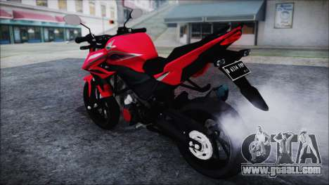 Honda CB150R Red for GTA San Andreas back left view