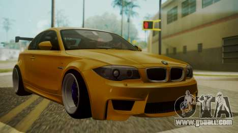 BMW 1M E82 without Sunroof for GTA San Andreas