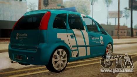 Chevrolet Meriva de Seguridad Vial for GTA San Andreas left view