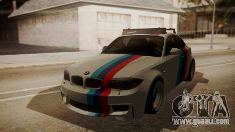 BMW 1M E82 with Sunroof for GTA San Andreas inner view