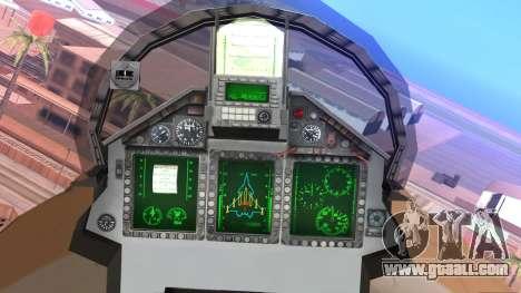Mikoyan MIG 1.44 Flatpack Venezuelan Air Force for GTA San Andreas right view