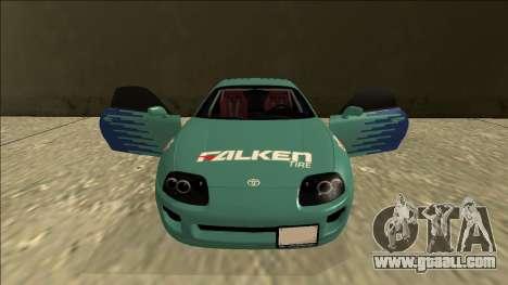 Toyota Supra Falken Drift for GTA San Andreas upper view